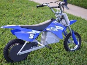 blue electric motorbike for kids